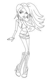 Small Picture Hairs Style Spectra Vondergeist Coloring Page Monster High