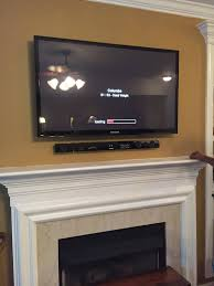 tv over fireplace mounting