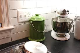 counter compost bin ideas kitchen aid stand mixer cushty