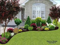 Front garden landscaping idea/inspiration for front yard in front of big  window with the rocks