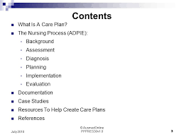 Adpie Charting Care Planning The Who What Why And How Of Care Plans For