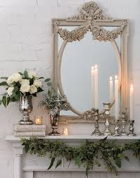 roses and candles mantel