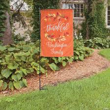 personalized fall thanksgiving garden
