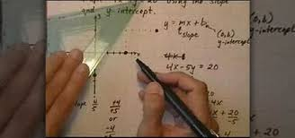how to graph a linear equation using slope and y intercept