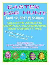 2017 Easter Egg Hunt Flyer City Of Wilson