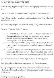 Design Proposal Sample Footwear Design Proposal Sample Proposals