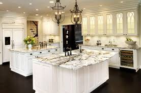 image of luxury kitchen designs with white cabinets and granite countertops