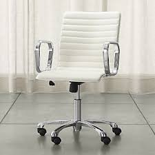 office chair for kids. Ripple Ivory Leather Office Chair With Chrome Base For Kids