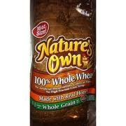 nature s own bread 100 whole wheat nutrition grade b 110 calories