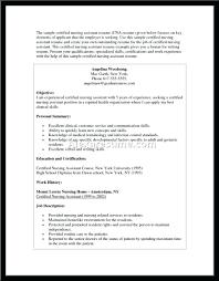 Sample Resume Certified Nursing Assistant resume Certified Nursing Assistant Resume Sample With No Work 54