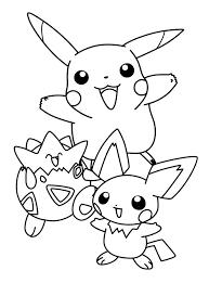 Pokemon Pikatshu Kleurplaat