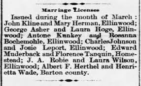 George Asher and Laura Hoge granted marriage license - Newspapers.com