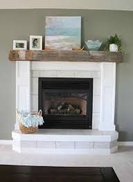 fireplace reclaimed wood fireplace mantel white makeover written by stacy at not just a housewife blog