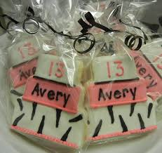 Happy Birthday Avery Averys 13th Birthday Cookies That Sweet Ang