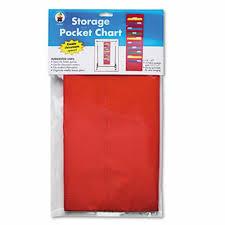 Carson Dellosa Storage Pocket Chart With Pockets Hanger Grommets Cdpcd5653