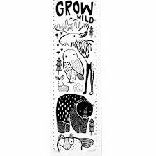 Moose Growth Chart Wee Gallery Nordic Canvas Growth Chart