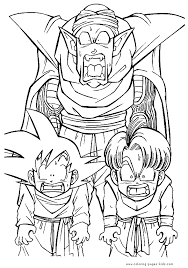 dragon ball z coloring book pages wonderful dragon ball z coloring pages 74 for line drawings