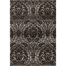 orian rugs plush pile damask norfolk gray area rug 5 3 x 7 6