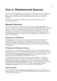 Some Objectives For Resume Phlebotomy Resume Objective Interesting Resume Objective Examples