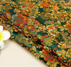 Floral Brocade Us 1 99 50 Off Patchwork Floral Brocade Fabric Damask Jacquard Apparel Costume Upholstery Furnishing Curtain Materil Fabric For Dolls 75cm 50cm In