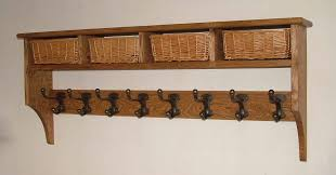 Mounted Coat Rack With Shelf Various Basket Shelves Shaker Peg Rails Country On Coat Racks With 74
