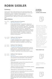 Qa Resume Samples Resume Resume For Qa Tester Entry Level Software Sle  ApamdnsFree Examples Resume And