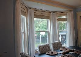 luxury how to put curtains on bay windows mega pingcenter how to hang net