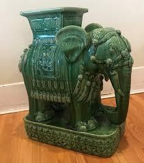 large 1960s emerald green ceramic