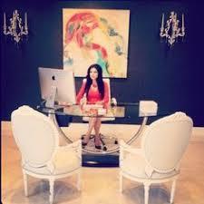 feminine office decor. Feminine Office Space Entrepreneur Eclectic Interior Rooms Decor U