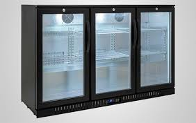 back bar cooler with glass door for