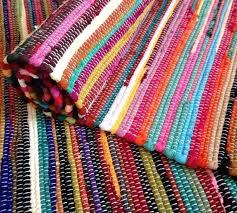 fair trade rugs rug fair trade loom recycled rag rug shabby chic woven striped fair trade