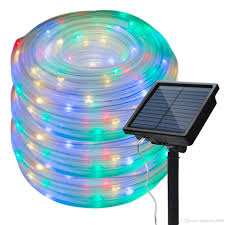 Solar Rope Lights For Garden 33ft 100 Leds Solar Rope Lights Led String Lights Waterproof Solar Powered Decoration Light For Gardens Patios Homes Parties Patio Lights String