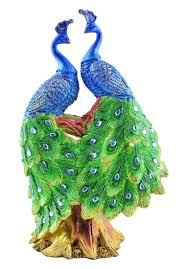 Blue Green Online Peacock Couple For Home Decoration Art Decor