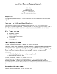 Assistant Manager Resume Sample Resume For Your Job Application
