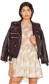 women anine bing leather jacket silver burdy biker