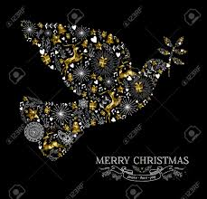 Merry Christmas Happy New Year Greeting Card Design Holiday