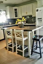 kitchen island table ikea. Beautiful Kitchen Ikea Stenstorp Kitchen Island Hack We Added Grey Quartz On Top With  More Room To Add A Saddle Bar Stool Intended Kitchen Table Ikea S