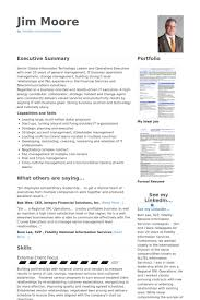 Chief Information Officer Resume Samples Visualcv Resume Samples