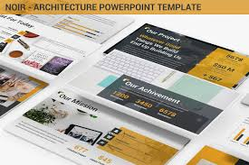 Architectural Powerpoint Template Noir Architecture Powerpoint Template