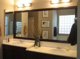 over mirror lighting bathroom. bathroom wide framed mirror ideas with over lights on lighting