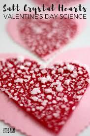 growing salt crystal hearts for
