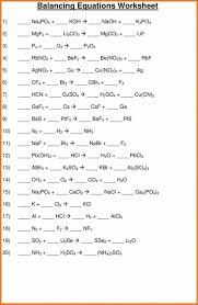lovely balancing equations worksheet art resume skills chemical part 2 answe chemical equations worksheet worksheet large
