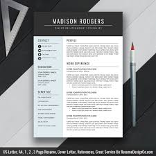 Professional Resume Template Word Resume Cv Template Clean Design