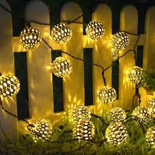 Solar <b>String Lights</b> 10/20 <b>Morocco Balls</b> LED String Fairy Light ...