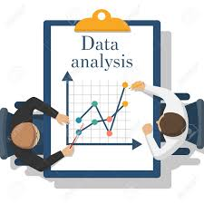 Data Analysis Abstract Data Analysis Two Businessman Analyze Charts Diagrams 9