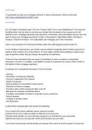 Mortgage Forbearance Agreement Sample Lovely Hardship Letter Wells ...