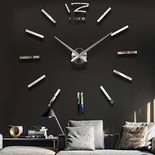 product gallery on wall clock art design with luxury wall clock living room diy 3d home decoration mirror large