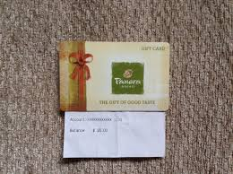 panera bread 20 gift card 1 of 1only 1 available
