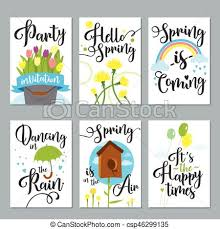 Spring Photo Cards Spring Card Set With Spring Quotes Calligraphy Flowers Perfect For Greeting Cards Sale Badges Scrapbook Poster Cover Tag