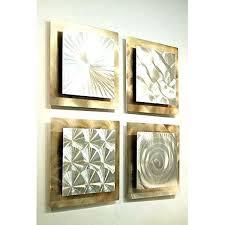 vintage inspired metal tile wall art set of 4